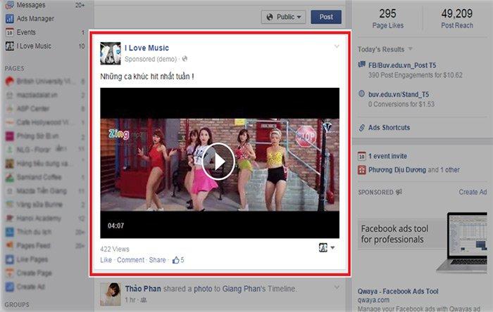 4 quang cao facebook Video Bảng giá quảng cáo Facebook