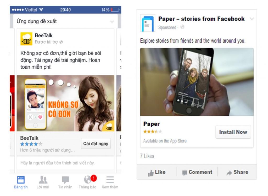 App install 01 1024x751 Quảng cáo Facebook   Miền đất hứa cho bạn